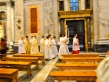 Procession after mass at St. Paul's Basilica, my favorite of the churches we saw